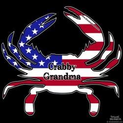 Shore Redneck USA Themed Crabby Grandma Decal