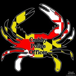 Shore Redneck MD Themed Crabby Police Officer Decal