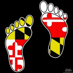 Shore Redneck MD Footprints Decal