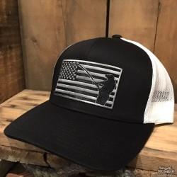 Shore Redneck USA Blackout Flag Black Fisherman Hat