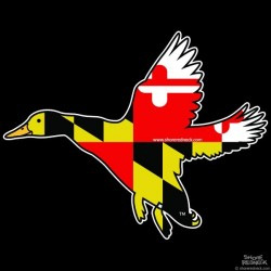 Shore Redneck MD Banded Duck Decal