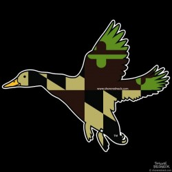 Shore Redneck MD Green and Tan Banded Duck Decal