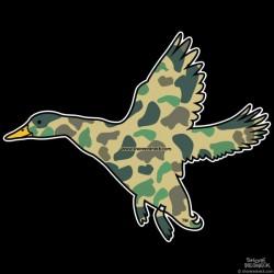 Shore Redneck Duck Camo Banded Duck Decal