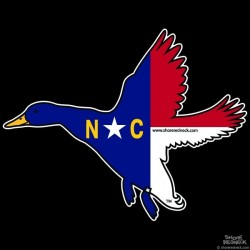 Shore Redneck NC Banded Duck Decal