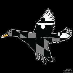 Shore Redneck MD Blackout Banded Duck Decal