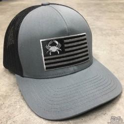 Shore Redneck Blackout Flag USA Crab Hat