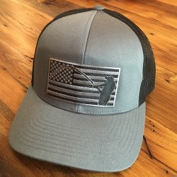 Shore Redneck USA Blackout Flag Fisherman Hat