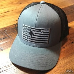 Shore Redneck Blackout Flag USA Duck Hat