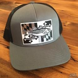 Shore Redneck MD Blackout Striper Hat