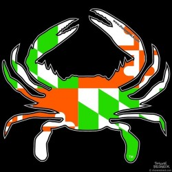 Shore Redneck Irish MD Flag Crab Decal