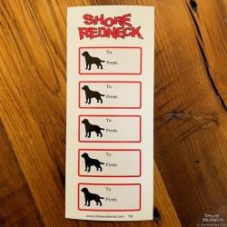 Shore Redneck Labrador Gift Tags