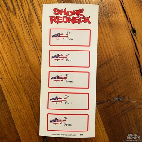Shore Redneck USA Fish Gift Tags