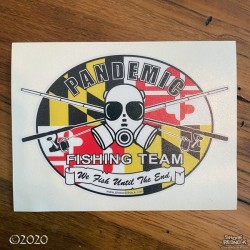 Shore Redneck Pandemic Fishing Team MD Flag