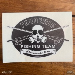 Shore Redneck Pandemic Fishing Team Ches Bay Black