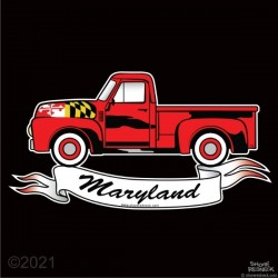 Shore Redneck Maryland Red Pickup Truck