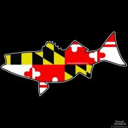 Shore Redneck Maryland Striper Pig Decal