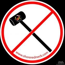 Shore Redneck No Mallets Maryland Decal