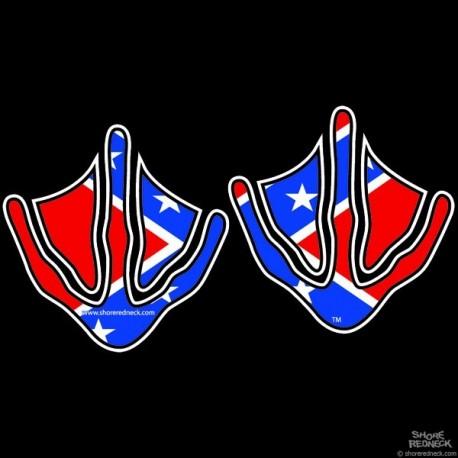 Shore Redneck Dixie Flag Goose Prints Decal