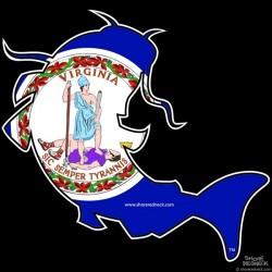 Shore Redneck VA Catfish Decal