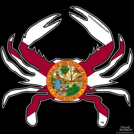 Shore Redneck Florida Flag Crab Decal Shoreredneck Com