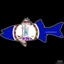 Shore Redneck Virginia Rockfish Striper  Decal