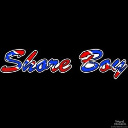 Shore Redneck Shore Boy Confederate Script Decal